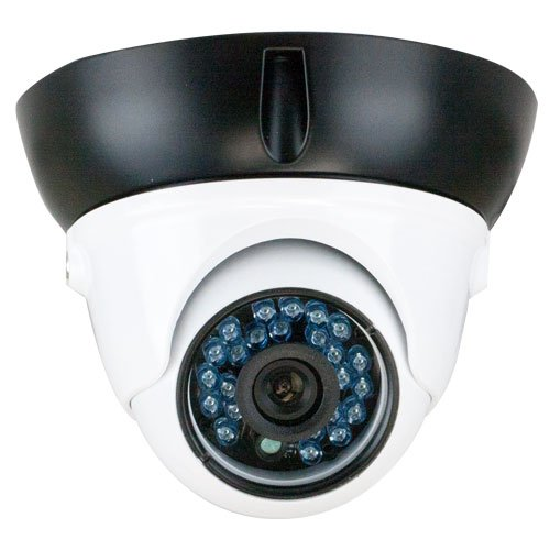 (GW Security Inc VD736CB 1/3-Inch CCD Security Outdoor Camera, 600TV Line, 3.6mm Lens, 24 Pieces Infrared LED, 65-Feet IR Distance and Water)