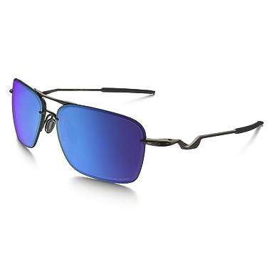 Oakley Men's Tailback Polarized Iridium Square Sunglasses, Carbon, ...