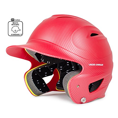 Under Armour Classic Carbon Tech Batting Helmet, Red, Adult (12+)