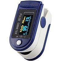 Oxímetro de Dedo,Oxímetro De Pulso, Spo2 con Oxímetro De Pulso, OLED De Pulso, Monitor de Saturación de Oxígeno en Sangre con PR (Frecuencia de Pulso), PI (Índice de Perfusión), Medición Infrarroja