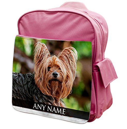 personalisierbar Yorkshire Terrier Dog II Animal Pink Rucksack Rucksack 327
