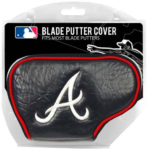 Team Golf MLB Atlanta Braves Golf Club Blade Putter Headcover, Fits Most Blade Putters, Scotty Cameron, Taylormade, Odyssey, Titleist, Ping, Callaway