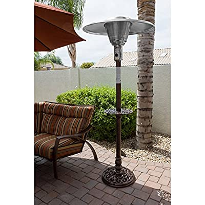 AZ Patio Heater Hiland Cast Aluminum Natural Gas Patio Heater