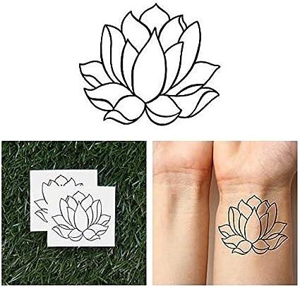 Tatuaje Temporal Tattify - Flor de loto sencilla - Loto de dos ...