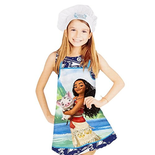 Disney Moana/Vaiana Apron and Chef's Hats Set, Officially Licensed. by Disney (Image #1)'