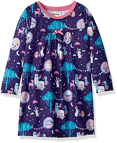 - Hatley Girls' Little' Long Sleeve Nightgowns, Enchanted Tea Party, 2 Years
