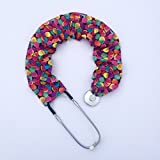Stethoscope Covers Handmade Variety Patterns Colors 100% Cotton Scrunchie (Candy Hearts)