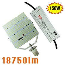 NGTlight 150W LED Retrofit Kit With Meanwell Power Supply, 18750LM E39 E40 Mogul Base, 6000K Daylight led replacement for 1000W MH HPS
