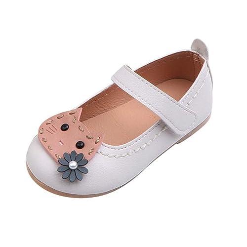 4a37b69ed8705 PAOLIAN Zapatos de Princesa Fiesta para Niñas Verano 2019 Sandalias para  Bebe Niñas Calzado Vestir Zapatillas Boda Suela Blanda Velcro 22-29  Amazon. es  ...