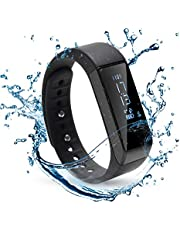 WADEO Fitness Tracker Watch Waterproof Bluetooth Activity Trackers with Heart Rate Monitor Pedometer Step Counter Watch and Calorie Counter Watch Slim Smart Bracelet Touch Screen for Kids Women Men