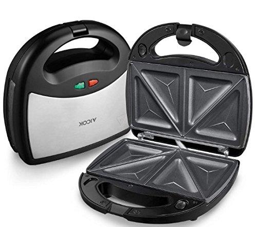 Aicok 3 en 1 Sandwich grill, Sandwitch toaster, Croque gaufre, Appareil à croque-monsieur