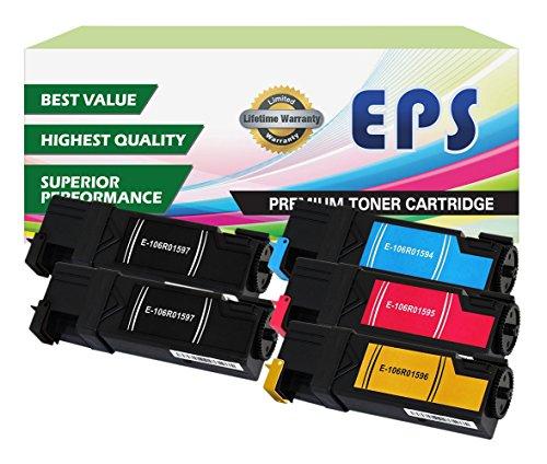 EPS Replacement 5PK Toner Set for Phaser 6500, Phaser 6500DN, Phaser 6500N, WorkCentre 6505, WorkCentre 6505DN, WorkCentre 6505N (2 BK, 1 Cyan, 1 Magenta, 1 Yellow)