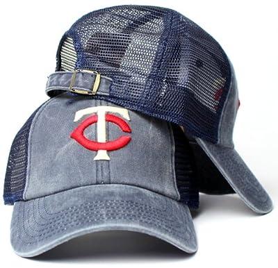 Minnesota Twins MLB American Needle Raglan Bones Soft Mesh Back Slouch Twill Cap Navy