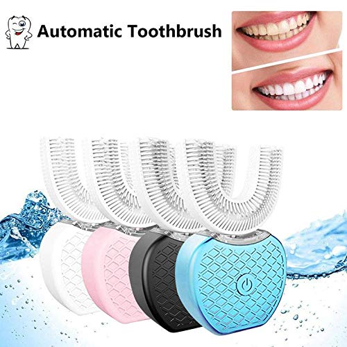 Automatic Toothbrush Silicone V-White Dental Instrument Smart Lazy Sonic Silicone Electric Toothbrush Automatic Tooth Cleaner 366° Automatic Oral Cleaner