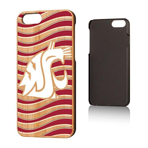 Keyscaper Washington State Cougars Wave Bamboo iPhone 6 Case ()