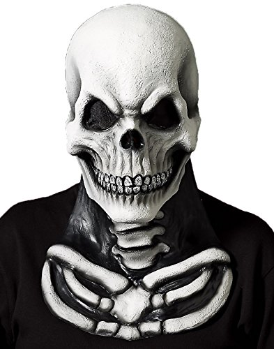 Skull Mask with Skeleton Chest (Scary Rubber Masks)