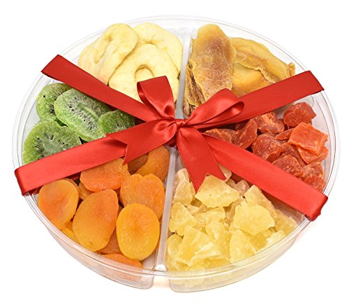 Gift Universe Valentines Day Gift Tray with Dried Apple Rings, Dried Mangoes, Dried Kiwi, Dried Apricots, Dried Pineapple Tidbits and Dried Papaya Chunks, 1.9 Lbs (862g)