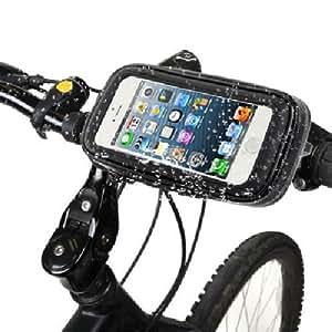 Samsung 6402157361975 - Soporte para bicicleta con funda impermeable negra para galaxy s3 mini i8190 negro