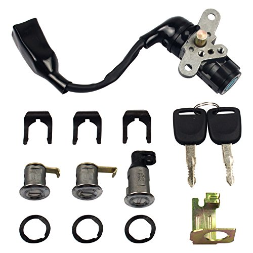 Price comparison product image (KS7) UMPARTS 4-Pin Ignition Key Switch Assembly for GY6 150cc 250cc Scooter Moped