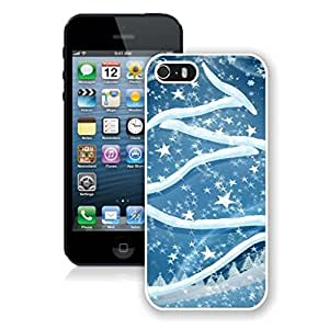 Iphone 5s Case,Christmas Stars Snowflakes White Case For Iphone 5 5S Protective Case