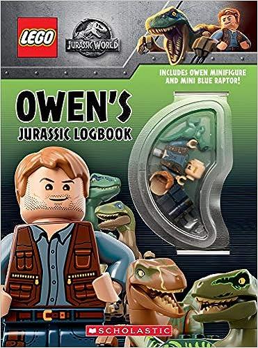 Jurassic Minifigure Owen Blue Wth Owen's Mini Logbook And Raptor WD9EH2I