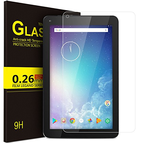 IVSO Screen Protector for Dragon Touch V10 10 inch Tablet, Tempered-Glass [Scratch-Resistant] [No-Bubble Easy Installation] for Dragon Touch V10 10 inch Tablet