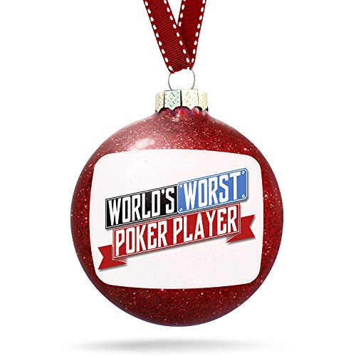 Christmas Decoration Funny Worlds worst Poker Player Ornament by NEONBLOND