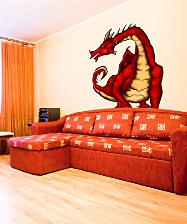 Amazon.com: Graphic Wall Decal Sticker Medieval Dragon JH106: Home U0026 Kitchen