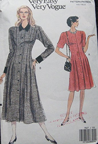 Uncut Vintage Vogue Pattern Dress - 4