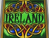 10cm Stained Glass Loose Coaster Ireland Celtic