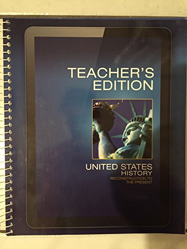 Books : High School Grade 10 (Teacher's Edition): United States History Reconstruction to the Present