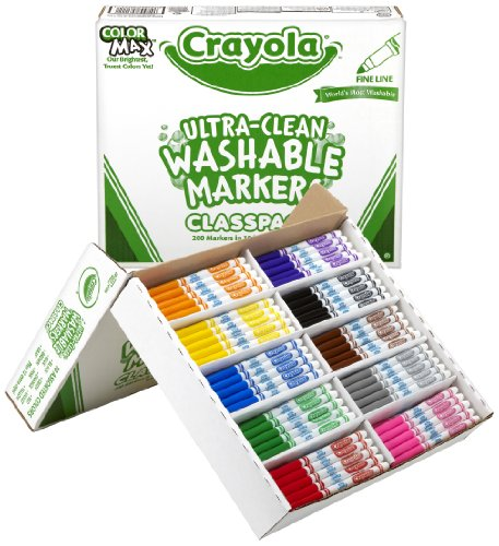 Crayola Ultraclean Washable Markers 58 8211