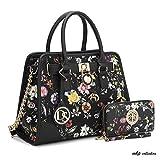 MKP Collection Fashion Woman Handbag and Wallet set~Beautiful Tote~Designer Satchel~Nice Purse (6892W) BKF