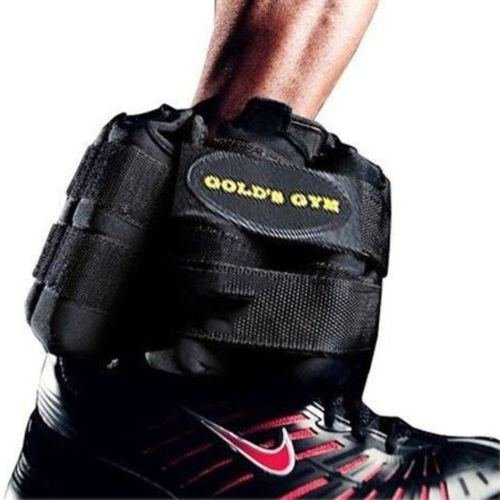 Golds Gym Adjustable Ankle Weights PAIR 20 Lb Wrist Arm Leg Running Exercises