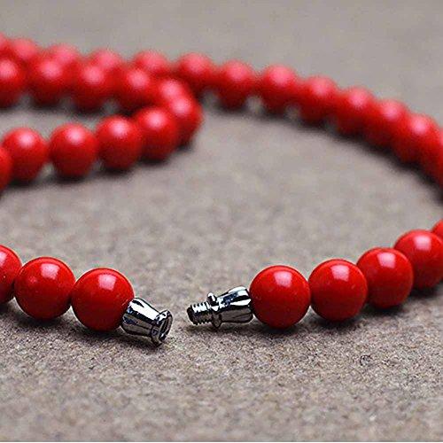 Collier perle - Cinabre - Bijou en pierre naturelle - Rouge - Ruby - Cadeau Femme pas cher - Mes Bijoux Bracelets
