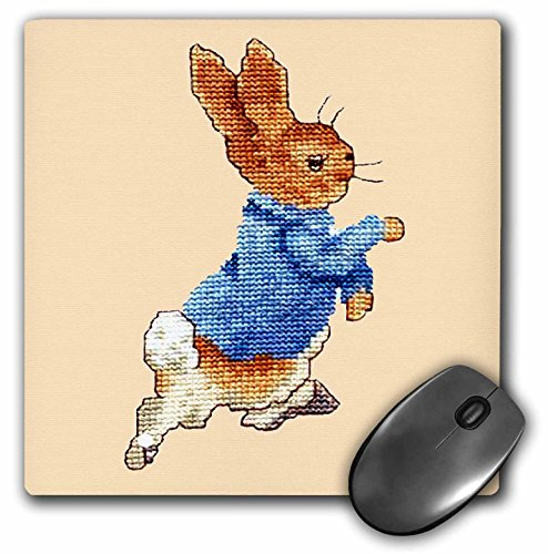 Price comparison product image 3dRose LLC 8 x 8 x 0.25 Inches Mouse Pad, Peter Rabbit (mp_932_1)