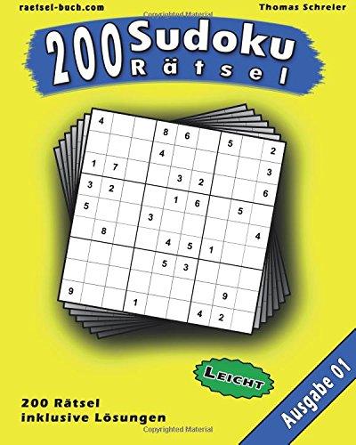 Download 200 leichte Zahlen-Sudoku 01: 200 leichte 9x9 Sudoku mit Lösungen, Ausgabe 01 (200 Sudoku Rätsel Leicht) (Volume 1) (German Edition) ebook