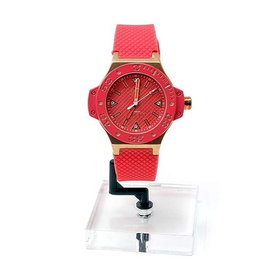 Relojes Calgary, Portofino Gold Coral, Correa Color Coral con Detalles Color Oro