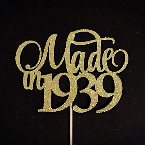 Remarkable Made In 1939 Cake Topper 80Th Birthday Cake Topper 80Th Funny Birthday Cards Online Alyptdamsfinfo