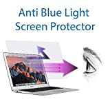 Anti Blue light screen protector (2 pack) for Macbook Air 13 inch model number A1369 & A1466. Filter out Blue Light and relieve computer eye strain to help you sleep better