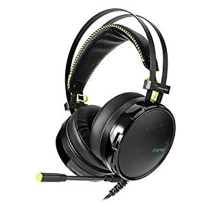Gaming Headset, Over Ear Heaphones With Mic LED Stereo Heaphones,Bass Surround 7.1 Noise-cancelling Headphones with USB Connector For Laptop Mac Nintendo Switch Games