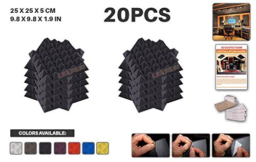 ace-punch-20-pack-black-self-adhesive-pyramid-acoustic-foam-panel-diy-design-studio-soundproofing-wa