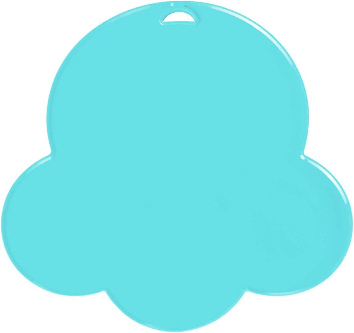 Yuccer Platos de Silicona para Bebes Ni/ños Antideslizantes Cubiertos Bebe Cuchara FDA y Sin BPA Azul
