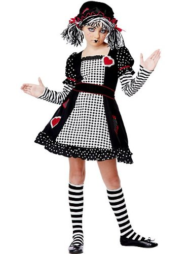 Rag Doll Striped Costumes (California Costumes Rag Doll Child Costume, Medium)