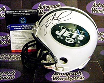 64ba3b931 Mark Sanchez autographed mini helmet (New York Jets QB Legend) PSA ...
