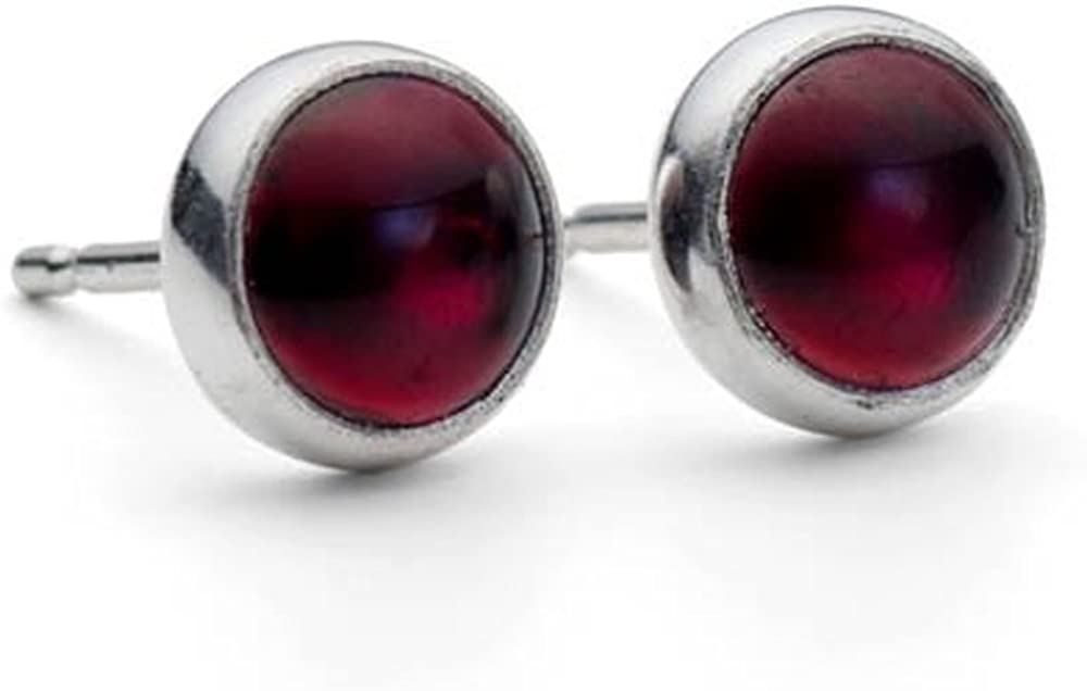 DV Jewels Garnet Gemstone Studs Earring