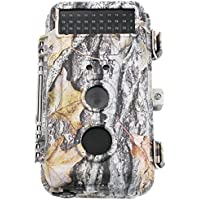 Ecusells 16MP HD Hunter Hunting Trail Wildlife Camera & Game Scouting Cam Motion Activated Waterproof with Night Vision 40pcs IR LEDs & PIR Up to 65ft, Video Record, Snapshot, 2.36 LCD Screen