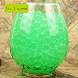 LingStar Deco Vase Filler Water Pearl Storing Jelly Beads Wedding Home Decor Display Light Green 600beads 6pack