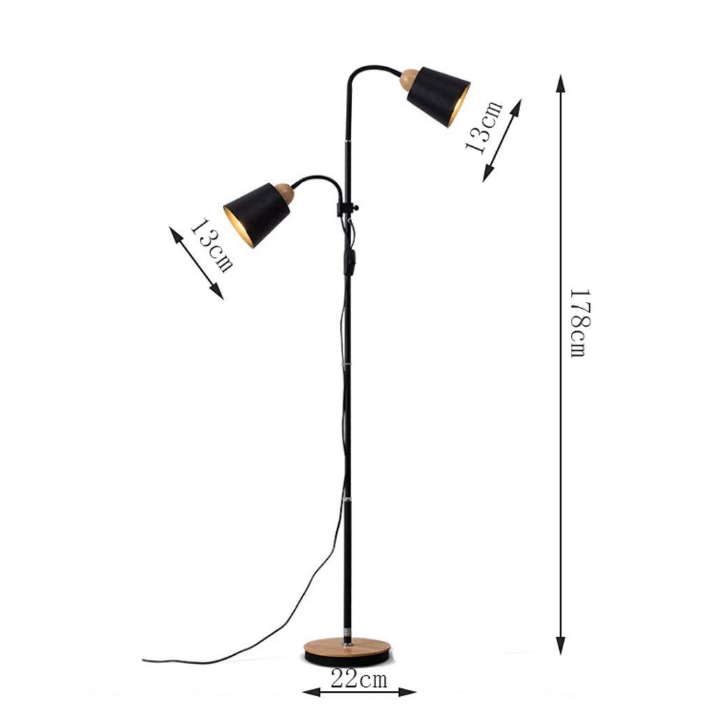 Height: 145-173cmadjustable DGF Iron Art Floor Lamp Living Room Bedroom LightsE27 Light Source