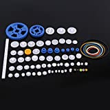 toy transmission - 80Pcs Plastic Gears Pulley Belt Crown Gear Set Worm Kits Robot Car Motor Toy DIY Parts Assortment
